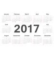 Circle european calendar 2017 vector image