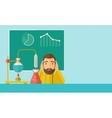 Science teacher in laboratory vector image