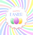 Happy easter template vector