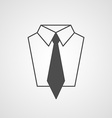 tie and shirt design icon Business flat symbol vector image
