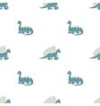 Seamless pattern Blue dinosaurs vector image