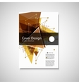 Abstract Triangle Brochure design Modern vector image