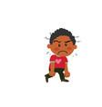 cartoon character black boy angry vector image