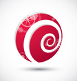 Curl symbol abstract icon 3d symbol vector image