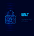 cyber security system concept closed padlock vector image