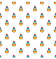 delicious cupcake with cream pattern vector image
