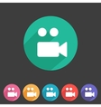 Flat game graphics icon camera vector image