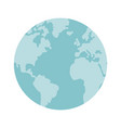 globe world earth map round icon vector image