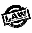 law enforcement rubber stamp vector image