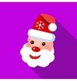 Santa Claus icon flat style vector image