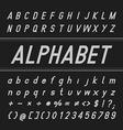 Alphabet Font Design Bold Italic vector image