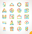Highlighter Line Icons Set 7 vector image
