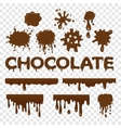 Chocolate splat collection vector image