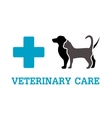 animals on vet symbol vector image