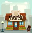 cartoon bistro restaurant building small business vector image
