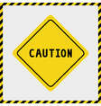 Caution sign2 vector image