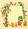 happy nature vector image