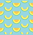 melon slices and polka dots seamless pattern vector image