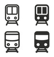 metro icon set vector image
