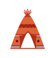native american indian tipi home with tribal vector image