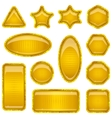 Set gold buttons vector image