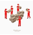 Warehouse storehouse workers vector image