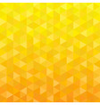 yellow triangle geometric background vector image