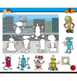 educational activity with robots vector image