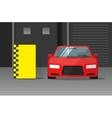 Car crash test vector image vector image