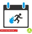 Fire Evacuation Man Calendar Day Eps Icon vector image