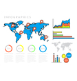Infographics world map vector image