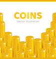 gold dollars piles cartoon template vector image