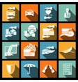 Insurance security icons set vector image