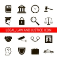 Law Legal Justice Icons and Symbols Isolated vector image