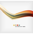 Abstract Blurred Waves In The Air vector image vector image
