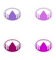Set of stickers Indian Taj Mahal on white vector image