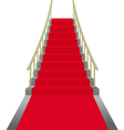 red stairs vector image vector image