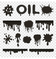 Oil or petroleum splat collection vector image