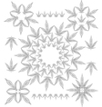 Cannabis outline pattern vector image