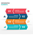 colorful label business infographics elements vector image