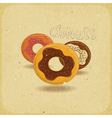 Donuts on vintage background vector image