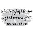 Handwritten alphabet Grunge texture vector image