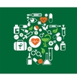 medical cross with health icon set vector image