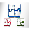 puzzle web icon design set vector image