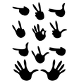 set of gestures silhouette vector image