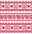 Ukrainian folk art embroidery pattern or print vector image
