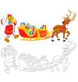 Santa with Christmas presents vector image vector image