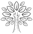 doodle tree leaves abstract vector image vector image