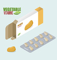 Potato vitamins Vegetarian pills Tablets in pack vector image