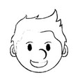 monochrome blurred silhouette with cartoon face vector image